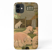 Pigs and Piglets on the Farm iPhone 11 Case