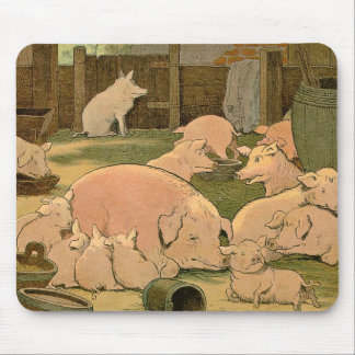 Pigs and Piglets on the Farm Mouse Pad