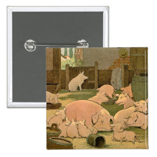 Pigs and Piglets on the Farm Pinback Button