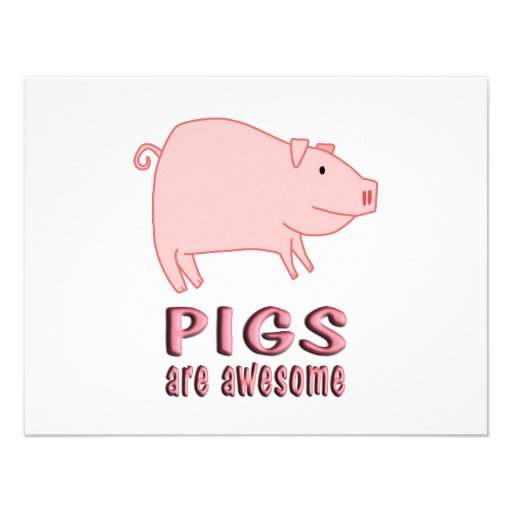 Pigs are Awesome Invites