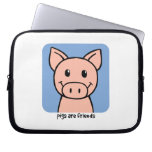 Pigs Are Friends Laptop Computer Sleeves