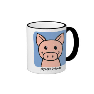 Pigs Are Friends Mugs