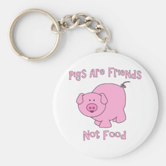 Pigs Are Friends, Not Food PETA Keychain