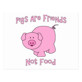 Pigs Are Friends, Not Food PETA Postcard