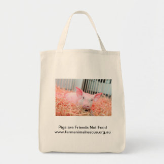 Pigs are Friends Not Food Tote Bag