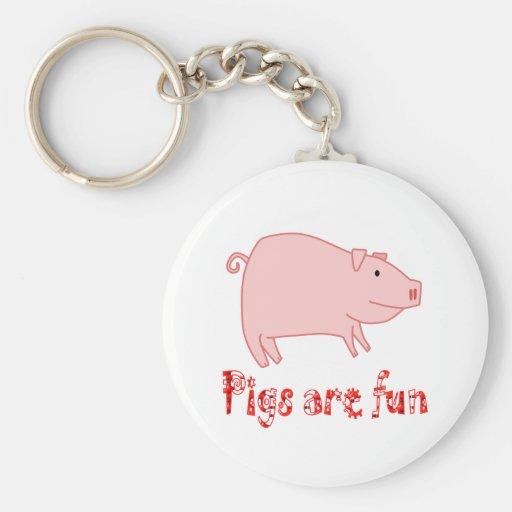 Pigs are Fun Key Chain