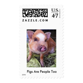 Pigs Are People Too Stamps