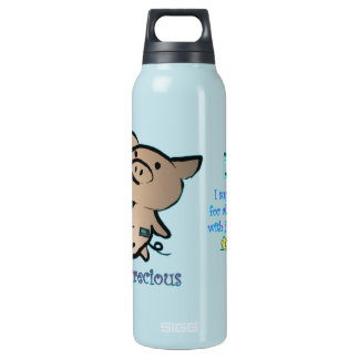 Pigs are Precious JDRF Insulated Water Bottle