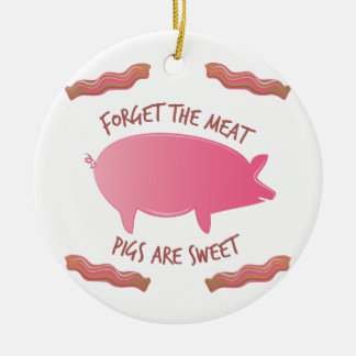 Pigs Are Sweet Ceramic Ornament