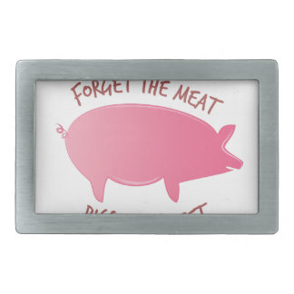 Pigs Are Sweet Rectangular Belt Buckle