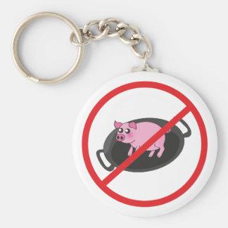 Pigs aren ' t food keychain