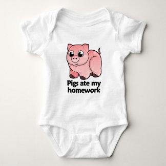 Pigs ate my homework baby bodysuit