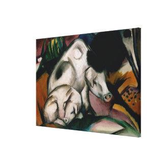 Pigs, c.1912 (oil on canvas) canvas print