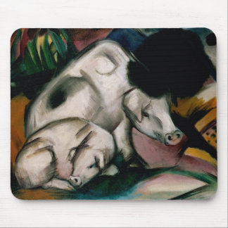 Pigs, c.1912 (oil on canvas) mouse pad