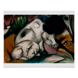 Pigs, c.1912 (oil on canvas) poster