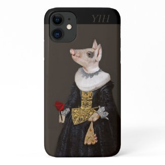 Pigs Deserve Roses - The Queen of Bling iPhone 11 Case