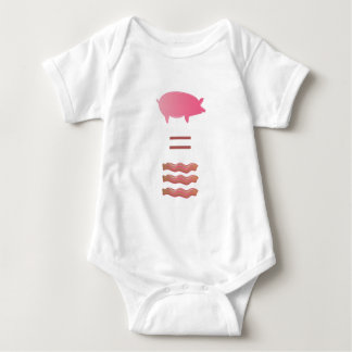 Pigs Equals Bacon Baby Bodysuit