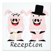 Pigs Evening Reception Card