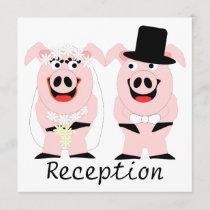 Pigs Evening Reception Invitation