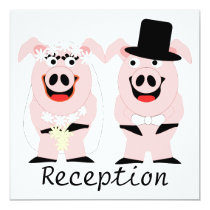 Pigs Evening Reception Invitation
