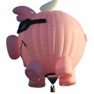Pigs Fly Hot Air Balloon Photo Sculpture