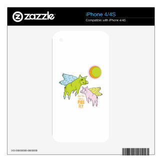 Pigs Fly iPhone 4S Decal
