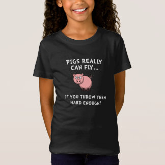 Pigs Fly Throw T-Shirt