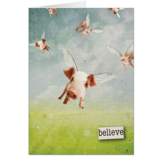 Pigs Flying - Believe Cards