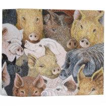 Pigs Galore 3 Ring Binder