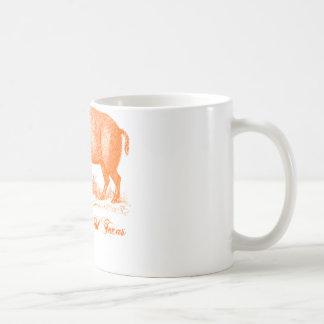 Pigs Gone Wild Texas ~ Orange Coffee Mug