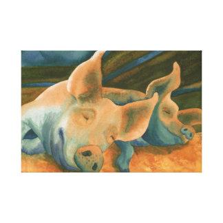 pigs hogs canvas prints