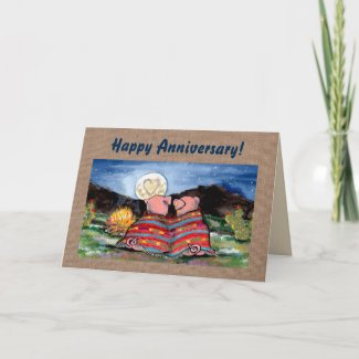 Pigs in a Blanket Personalizeable Anniversary Card