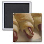 Pigs in a blanket with cheese refrigerator magnet