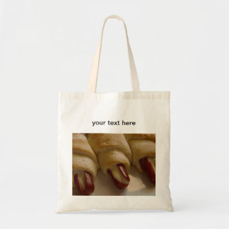 Pigs in a blanket with cheese tote bag