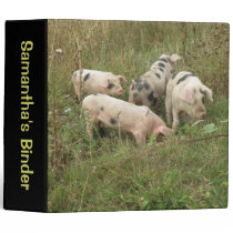 Pigs in a Field Custom Binder