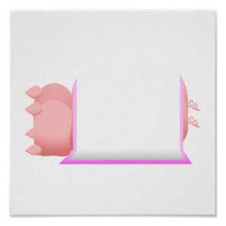 Pigs In A Pink Blanket Poster