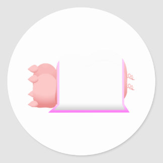 Pigs In A Pink Blanket Classic Round Sticker