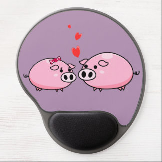 Pigs in love mousepad