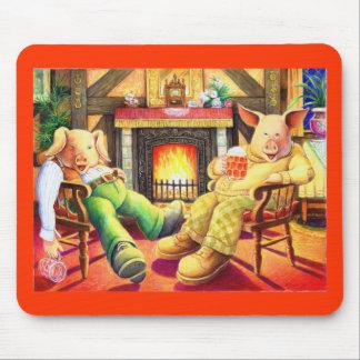 Pigs In Pub Mousepad