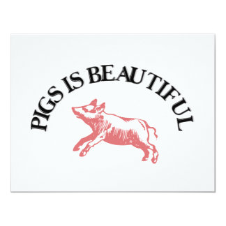 Pigs is Beautiful Card