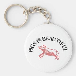 Pigs is Beautiful Keychain
