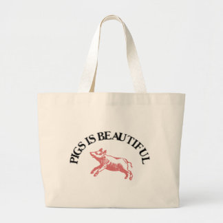 Pigs is Beautiful Large Tote Bag