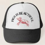 "Pigs is Beautiful Trucker Hat<br><div class=""desc"">Hat Template</div>"