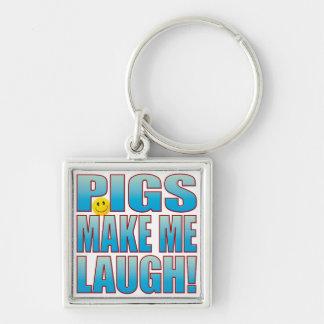 Pigs Laugh Life B Keychain