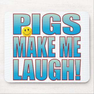 Pigs Laugh Life B Mouse Pad