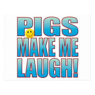 Pigs Laugh Life B Postcard