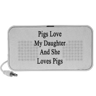 Pigs Love My Daughter And She Loves Pigs Mp3 Speakers