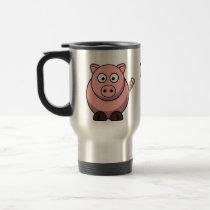Pigs Make Me Happy Travel Mug