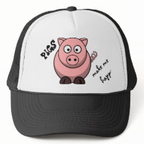 Pigs Make Me Happy Trucker Hat