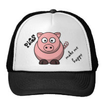 Pigs Make Me Happy Trucker Hat
